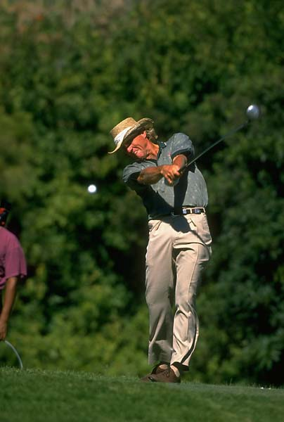 Greg Norman at the 1995 PGA Championship at Riviera.