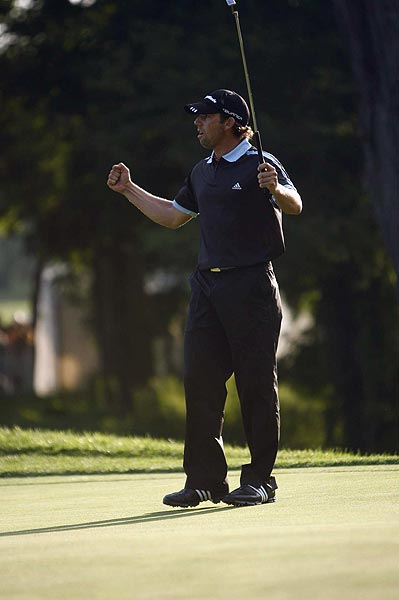 On the first playoff hole, Garcia sunk a 27-foot birdie putt.