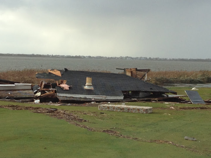 A skeet house was destroyed and left on No. 17.