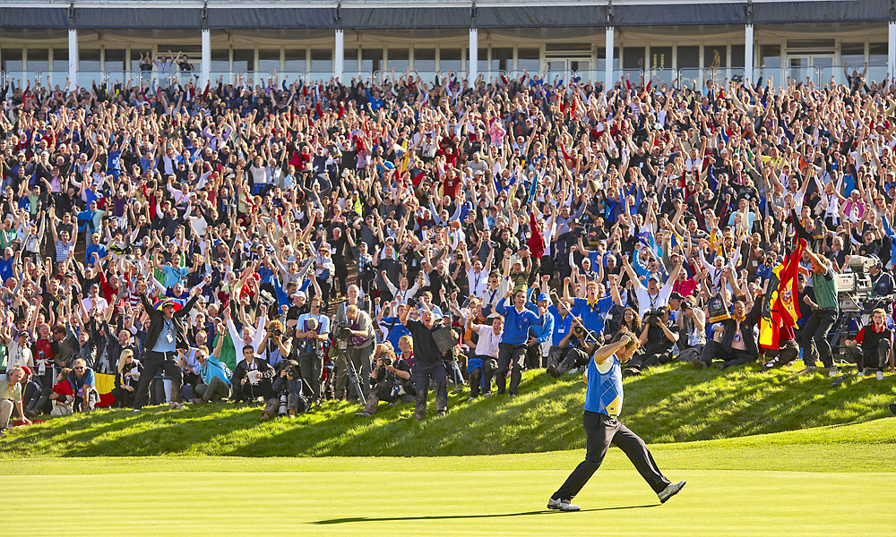 2010 Ryder Cup at Celtic Manor: Europe wins 14.5-13.5