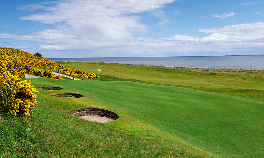 "Royal Dornoch Golf Club 6th (par 3, 156 yards)                     LOCAL KNOWLEDGE: ""It is imperative to check the flags on the adjacent fifth and eleventh greens to get an accurate idea of the wind direction and strength."" - Alan Grant, member at Royal Dornoch since 1984"