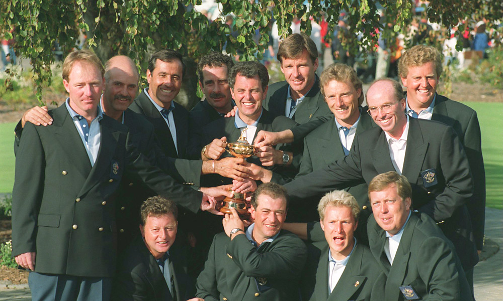 1995 Ryder Cup at Oak Hill CC: Europe wins 14.5-13.5