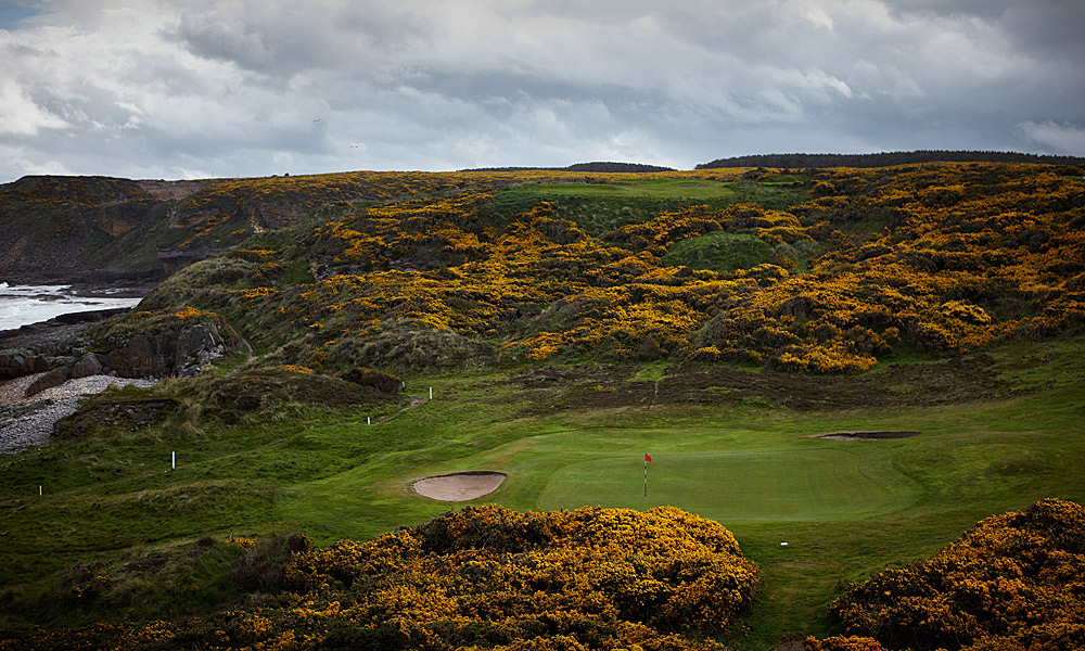 "Hopeman Golf Club 12th (par 3, 137 yards)                     LOCAL KNOWLEDGE: ""When the wind is up-and it mostly is-the hole becomes a test of nerve and skill, judging how far into the wind to play it and then executing a shot aimed far from its final target."" - Paul Lawrie, 1999 British Open champion"