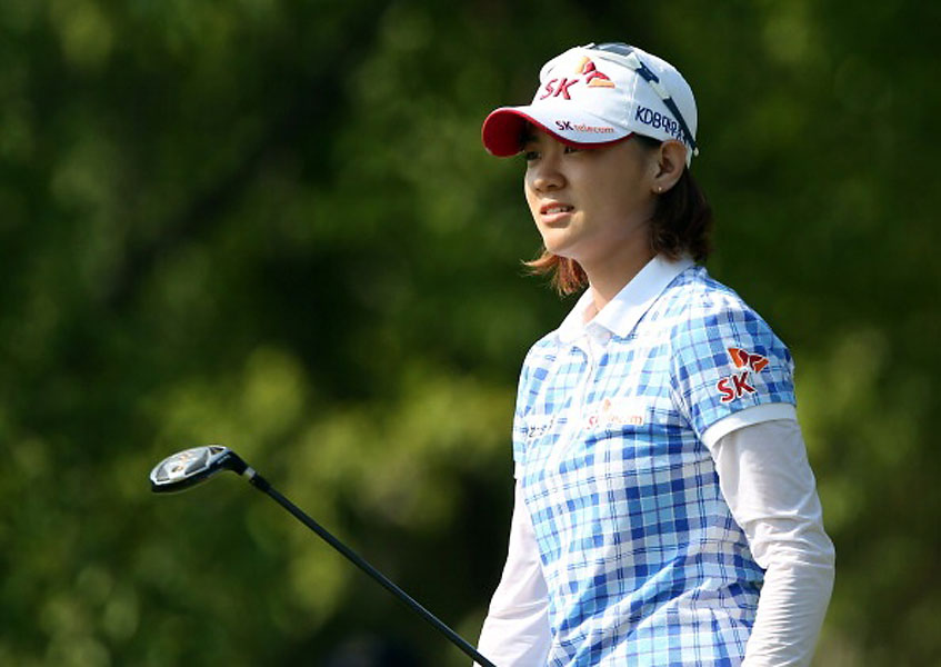 9. Choi Sangfroid                     The eventual Women's Open champion Na Yeon Choi radiated calm and self-possession throughout, dismantling the field like a superhero in a manga graphic novel. Each day she wore a white compression jersey beneath her golf shirt, worn long. Shirt and cap were festooned with little symbols, sunglasses, and sponsorship logos, a la Ryo Ishikawa.