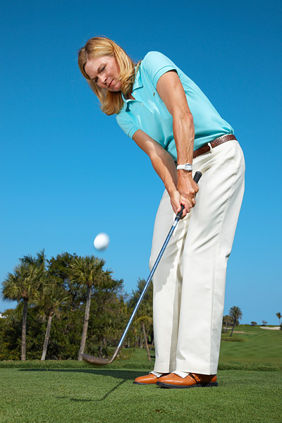 How to Handle Small Pitches                       Change your setup to soften up your everyday pitch swing                       By Kellie Stenzel                       Top 100 Teacher                                              This story is for you if...                                              1. You'd rather putt from off the green than hit a small pitch because you always catch these shots thin.                                              2. You think short shots require a slow swing.                                                                                                                                          THE SITUATION                                              You missed on your approach and are sitting a few yards off the green with the pin cut close. You're thinking putter, but the grass is too long to roll the ball safely onto the putting surface.                                                                                                                   THE SOLUTION                                              There's only one: an extra-small pitch. Successfully hitting this shot isn't a matter of force like most golfers believe, but rather a matter of swing length. Make the following setup changes to limit how far you take the club back so you can hit the ball just hard enough to land it on the green using your everyday pitching motion.