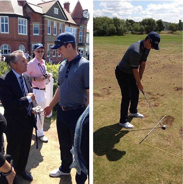 @JustinRose99Nice pre round chat with @GaryPlayer. He said to stay patient. Good advice after an average opener today.