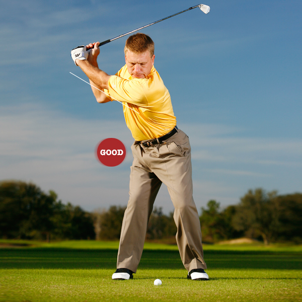 Key 2: Stretch it out                                                               START ... stretching your left shoulder behind the ball and                     extending your left arm as far as you can. You should feel                     a strong stretch in the left side of your torso. This creates                     max width and the potential for more speed.