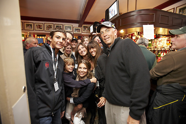 Americans Tom Lehman and Loren Roberts held court with their families after dinner at the Dunvegan, the famous pub just around the corner from the Old Course.