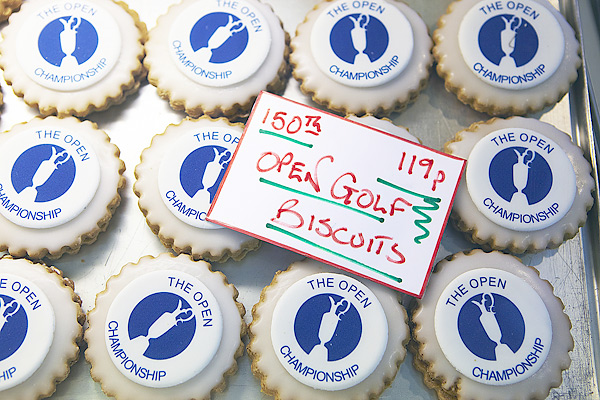 A batch of Open Golf biscuits sold at a local bakery during the tournament.