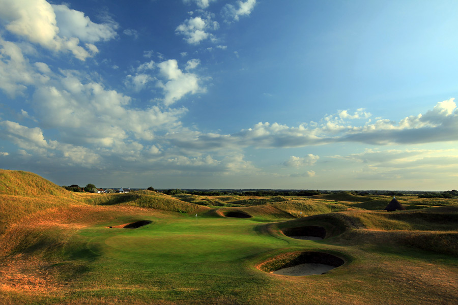 Royal St. George's                       Surely one of Darren Clarke's favorite courses in England, if not the world, as it was the site of his lone major triumph at the 2011 British Open.  Located on the coast southeast of London, the club celebrated its 135th anniversary in 2012.                       No. 32 on Golf Magazine's Top 100 Courses in the World