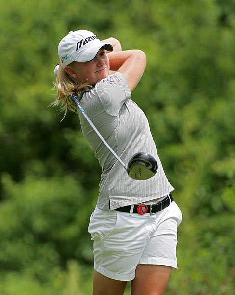 Stacy Lewis eagled the par-5 eighth in her final-round 74.