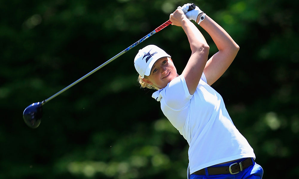 Stacy Lewis defeated Sandra Gal, 4 and 3.