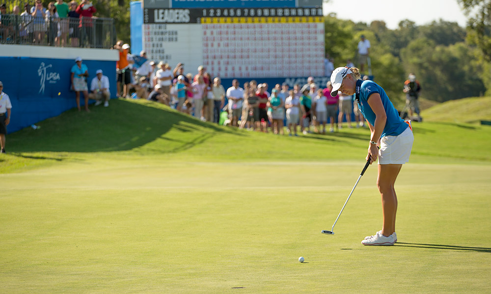 Stacy Lewis                       Amid talk of the depressing state of American women's golf, Lewis quietly captured four victories in 2012, becoming the first American to win LPGA Player of the Year since 1994.