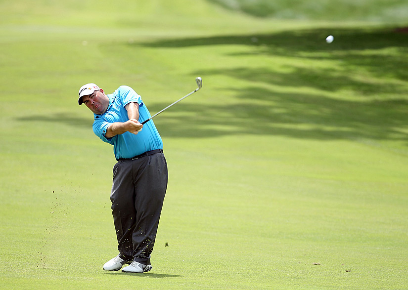 Kevin Stadler made three birdies, two bogeys and a double bogey for a 71.