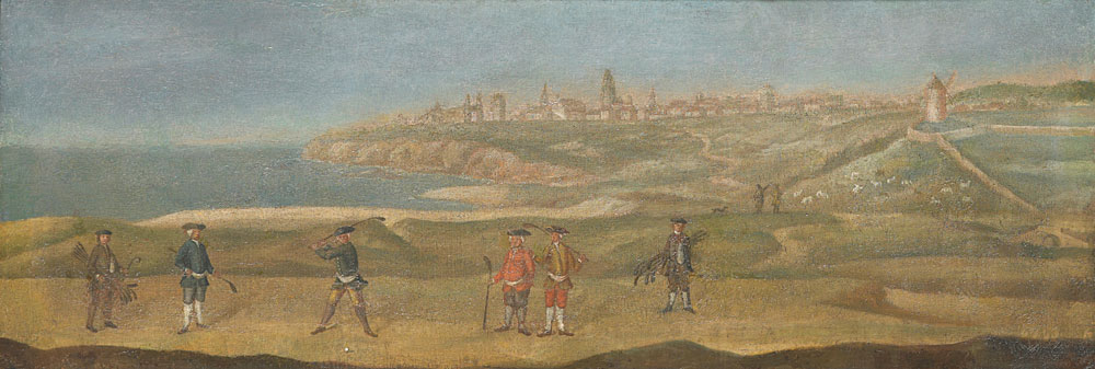 Unknown Artist                     View of St. Andrews from the Old course                     ca. 1740                     Oil on Canvas