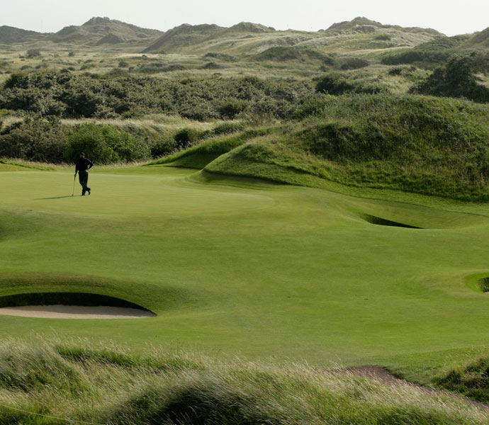 "Henrik Stenson: ""Of the British Open courses, I most like Birkdale. It's a little bit less bumpy and fiddly than some of the other Open venues, like St. George's, which is my least favorite out of the Open courses because you can hit it down the middle and end up in the rough. I like Birkdale because if you hit it in the fairways, it stays on the fairways.""                                              Pictured: The 11th green at Royal Birkdale during the 2008 British Open."