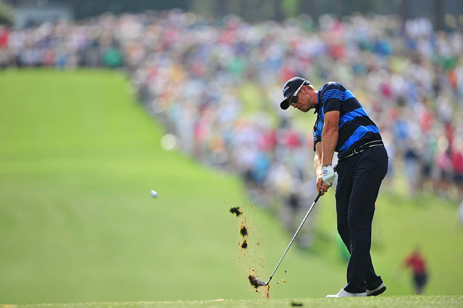 Henrik Stenson was in the lead for most of the day until he made a quadruple bogey on 18. He finished with a 71.
