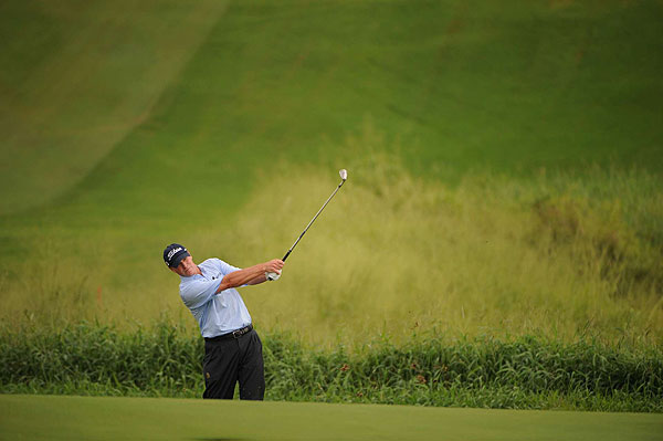 is the highest ranked player in the field, but finished with a disappointing even par 73.