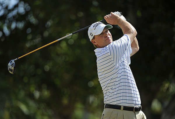 Steve Stricker flirted with the lead on Sunday, but finished two strokes back in third place.