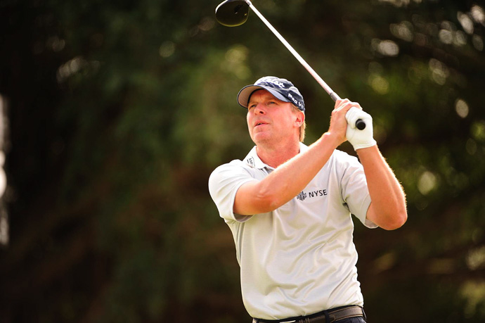 Steve Stricker shot a three-under 69 to remain in contention.