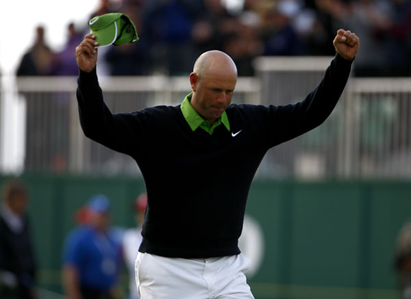"""It's been a surreal experience for me,"" Cink said after making his birdie putt to win the tournament. ""Not only playing one of my favorite courses and a wonderful tournament, but playing against Tom Watson. This stuff doesn't happen. I grew up watching him on TV, hoping to follow in his footsteps, not playing against him."""