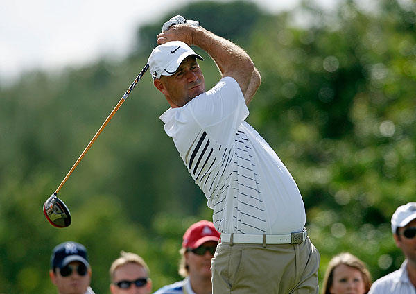 eagled the par-5 17th, but his second-round 70 was only good enough for a third place finish.