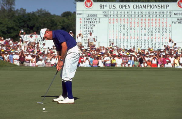 Stewart added another major to his record when he beat Scott Simpson in a playoff at Hazeltine to win the 1991 U.S. Open.