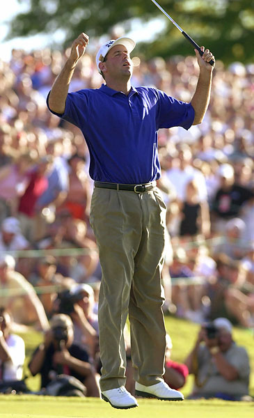 Stewart Cink: 2001 U.S. Open                     Stewart Cink's miss at Southern Hills that year did not have a happy ending. He thought he needed to make a 15-foot par putt to have a chance. He missed and hurried the bogey try from 18 inches, missing it and making double. It turned out that two putts would have been good enough to make the playoff with Goosen and Brooks.
