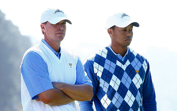 The pairings were set on Wednesday afternoon for the Thursday foursomes. Tiger Woods will play with Steve Stricker for the U.S. Team, against Ryo Ishikawa and Geoff Ogilvy.