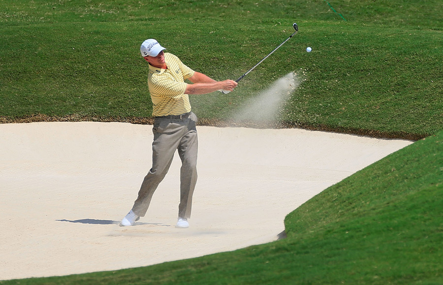 Steve Stricker bogeyed two of the last three holes for a three-over 73.