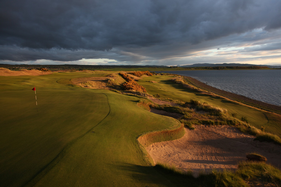 Castle Stuart Golf Links (No. 56 World): Golf Magazine's Top New International winner of 2009 has lived up to its early hype. Developer/designer Mark Parsinen and American architect Gil Hanse draped generous fairways atop sandy linksland that's spiced with wild and woolly bunkers and panoramas of Moray Firth and the Scottish Highlands. By emphasizing width and strategy and maximizing views, the 2011 Scottish Open site is that rare course that appeals equally to our low- and high-handicap panelists.