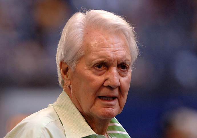 """Pat Summerall was a hero to me. I treasured the gift of friendship that I had with him. I was his understudy for 10 years. He could not have been more generous or kind to a young broadcaster.""                       --Jim Nantz on Pat Summerall, who died Tuesday at age 82. Summerall was part of CBS Sports' Masters broadcasts from 1968-94."