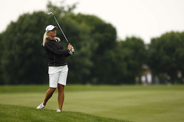 Suzann Pettersen finished three strokes off the lead at 14 under.