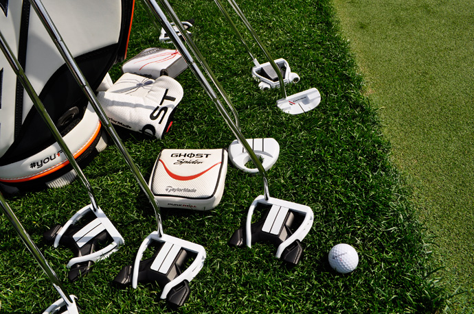 TaylorMade's Ghost Spider S putters sport a distinct paint job.