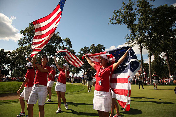 Sunday Singles at Solheim Cup                                      The United States won its third-straight Solheim Cup with a score of 16-12.