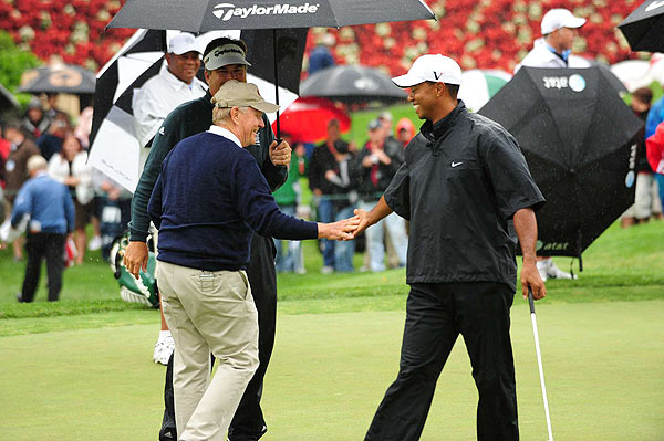 After no one won the final hole the game went to a chip-off, which Tiger won as he holed his chip. He won $37,000 in total, which was donated to the First Tee program.