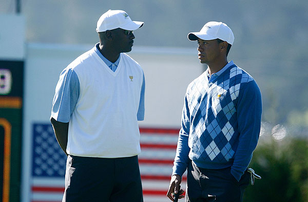 """A lot of the guys are looking forward to getting to know [Jordan],"" Woods said of having his close friend around at Harding Park. ""Geez, he's one of the probably — him and Muhammad Ali are two of the greatest athletes that have ever lived, so it'll be fun for our entire team to hang out with him."""
