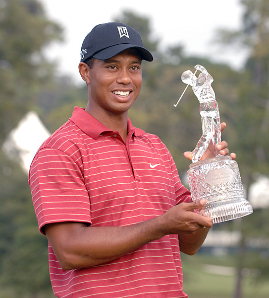 7. 2007East Lake Golf Club, Atlanta                     Purse: $7 mil. Winner's share: $1.26 mil.                     Winner: Tiger Woods (-23)                                          The Tour Championship took on added luster in '07 as the event became not only the final stop in the regular Tour season but also the culmination of the                     inaugural $65 million, four-tournament FedEx Cup playoffs. The tournament was short on drama but long on jaw-dropping                     golf. After an opening 64, Tiger took command with a second-round 63 that included a career-best nine-hole score of 28 on the front side capped by an eagle at the 9th hole. His four-round total of 257 was the lowest in tournament history and the third lowest in Tour history.