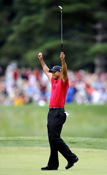 Final Round of the AT&T National                       Tiger Woods won at Congressional by one stroke over Hunter Mahan.