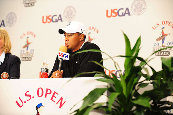 """Generally this is the hardest major we face year in, year out. Narrowest fairways, highest rough,"" Woods said in a press conference after his practice round."
