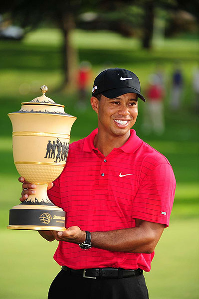 World Golf Championships-Bridgestone Invitational                       Winner: Tiger Woods                       Tiger Woods won for a record seventh time at Firestone Country Club, over Padraig Harrington and Robert Allenby. It was his fifth victory of the season.                                              Read the entire article