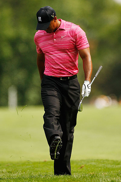 , in his first appearance since missing the cut at the British Open, shot a one-under 71.