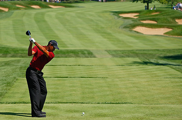Woods's final round included an eagle on the par-5 15th.