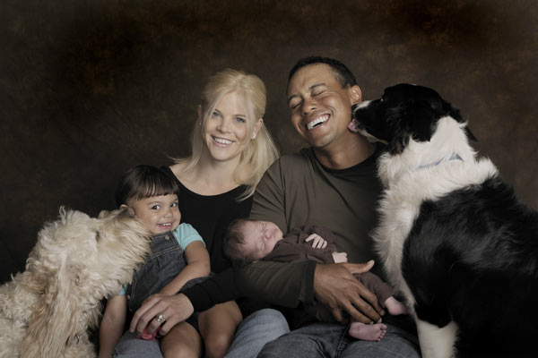 Elin and Tiger released this photo after the birth of Charlie, their son, in February of 2009. Their daughter, Sam, was born in June 2007.
