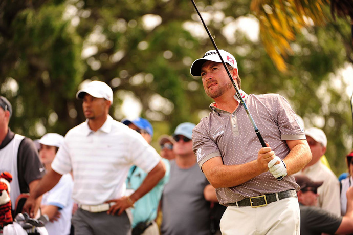 McDowell and Woods were paired together on Saturday, and they will battle again on Sunday.
