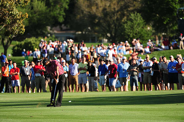 Woods spent much of the final round just a few strokes behind Sean O'Hair.