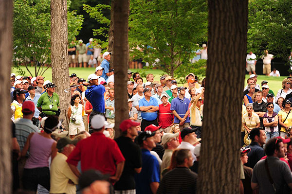 It was hard to imagine anyone other than Woods winning the tournament as he closed Saturday with a two-stroke lead.