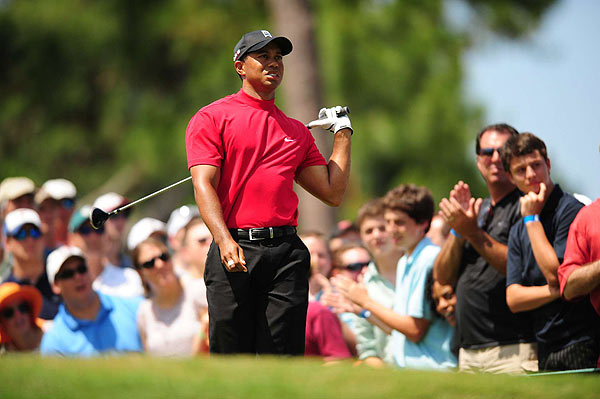 "Woods continued to struggle off the tee, but said after his round, ""I'll fix it. It's not that bad."""