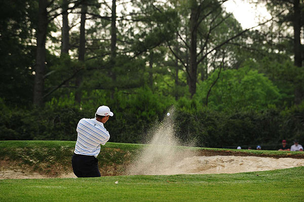 """I hit the ball solid all day, just a couple loose shots here and there,"" Woods said."