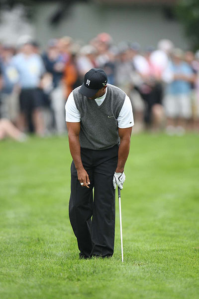 Tiger Woods completed his first round with a disappointing three-over 74.